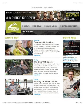 Issue 285 - June 18, 2013 - Outdoor Channel