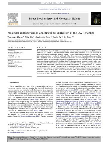 Molecular characterization and functional expression of the DSC1 ...