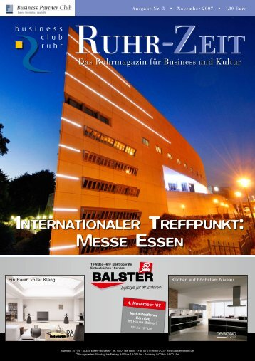 internationaler treffpunkt: messe essen - business club ruhr ev