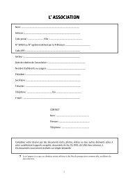 dossier de candidature - CROS de Poitou-Charentes