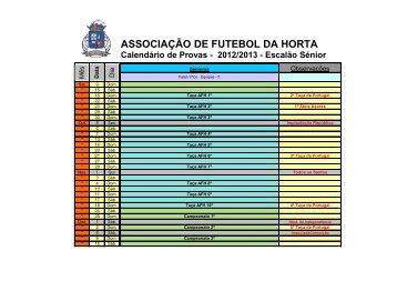 2012/2013 - Escalão Sénior - Associação de Futebol da Horta