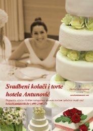 Svadbeni kolači i torte - Hotel Antunović - Zagreb