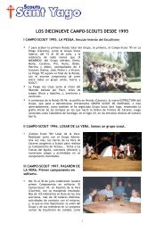 Campo-Scouts desde 1995 - Scouts Sant Yago