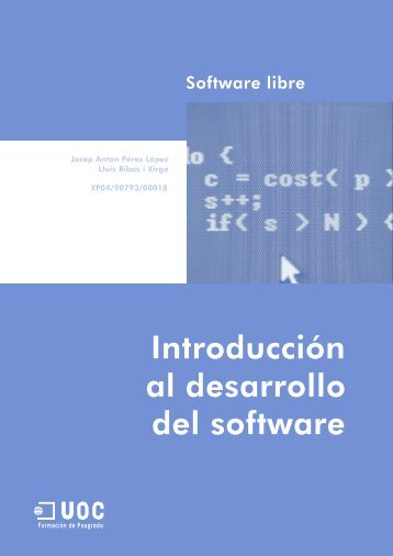 Introducción al desarrollo del software - SW Computación