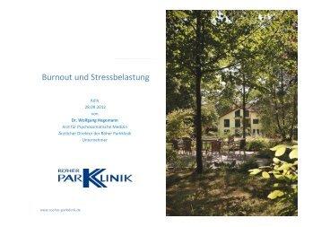 Emotionale Ressourcen -  Röher Parkklinik GmbH
