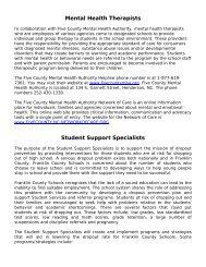 Student Support Staff Descriptions - Franklin County Schools