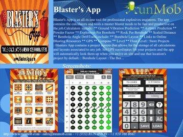Blaster's App - RunMob