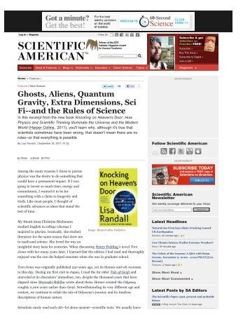 Ghosts, Aliens, Quantum Gravity, Extra Dimensions, Sci Fi--and the ...