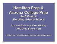 Hamilton Prep & Arizona College Prep