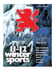 Winter Sports Program - 2011-2012 - Saint Viator High School