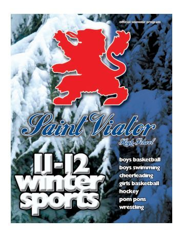 Winter Sports Program - 2011-2012 - Saint Viator High School