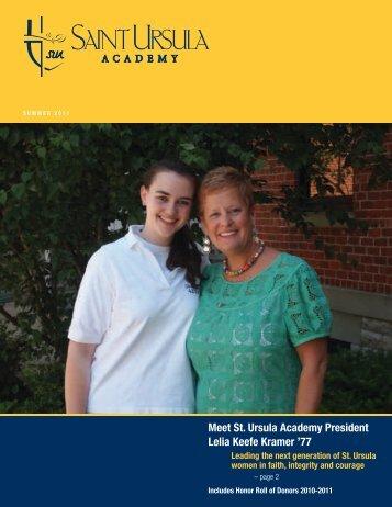 Meet St. Ursula Academy President Lelia Keefe Kramer '77