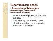 Reforma administracji - Ministerstwo Rozwoju Regionalnego