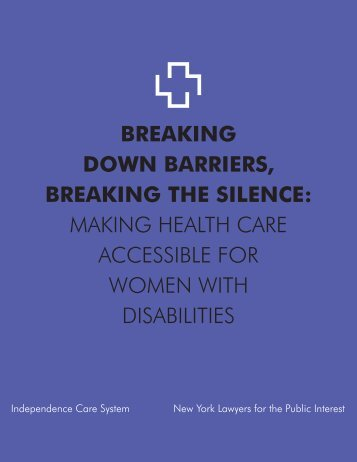 breaking down barriers, breaking the silence - New York Lawyers for ...
