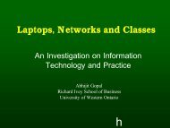 Laptops, Networks and Classes