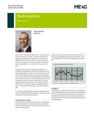 Marktausblick - VORSORGE Lebensversicherung