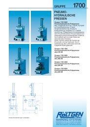 gruppe pneumo- hydraulische pressen 1700 - bei Röltgen Marking ...