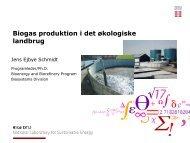 Biogas produktion i det økologiske landbrug - inbiom.dk