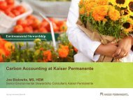 KAISER PERMANENTE Community Benefit - Practice Greenhealth
