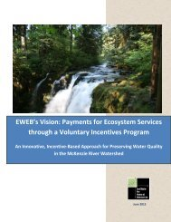 EWEB's Vision: Payments for Ecosystem Services through a ...