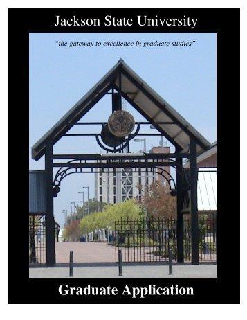Jackson State University Graduate Application