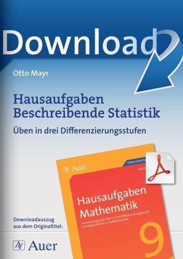 Hausaufgaben Beschreibende Statistik
