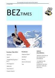 Die einzigartige Zeitung der Bezirksschule Wohlen - Bez Wohlen