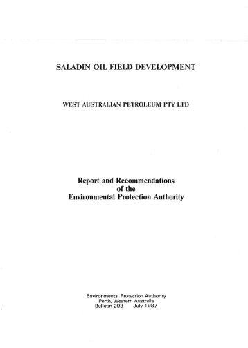 SALADIN OIL FIELD DEVELOPMENT Report and ...