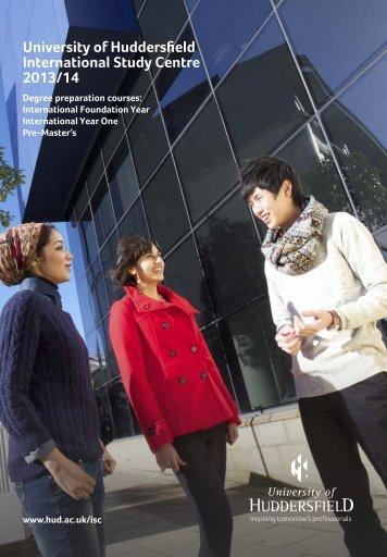 Huddersfield Prospectus 2013 - Study Group