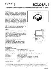Datasheet for Sony ICX205AL CCD Sensor - Sony - Device Drivers
