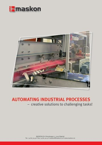 automating industrial processes - Maskon