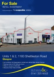unit to let at Glasgow - The Co-operative