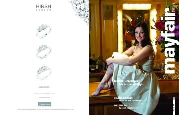 RUTHIE HENSHALL Life in the spotlight -  Mayfair Times