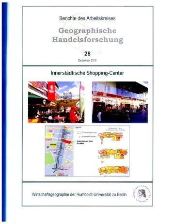 Innerstädtische Shopping-Center (Geographische Handelsforschung)