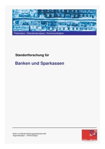 Banken und Sparkassen - Markt und Standort Beratungsgesellschaft ...