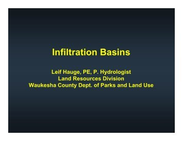 Infiltration Basins - Waukesha County