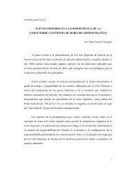 Nuevos criterios en la jurisprudencia de la Corte sobre cuestiones ...
