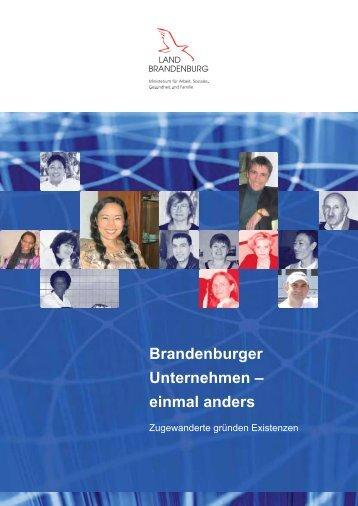 Brandenburger Unternehmen - Ministerium für Arbeit, Soziales ...