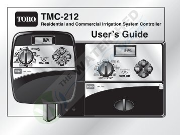 TMC-212 User's Guide - Thewatershed.biz