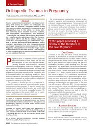 Orthopedic Trauma in Pregnancy - The Journal of Family Practice