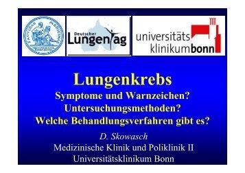 Lungenkrebs - Medizinische Klinik und Poliklinik II