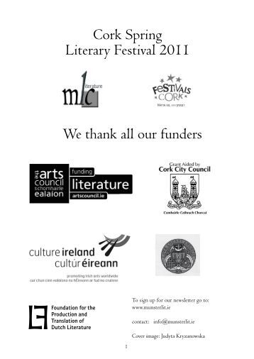 Festival Brochure - Munster Literature Centre