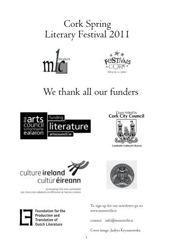 Festival Brochure - Munster Literature Centre