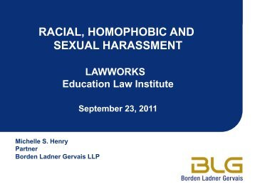 RACIAL, HOMOPHOBIC AND SEXUAL HARASSMENT - OISE