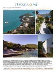 Villa Zala, Korcula Island - CroatiaGems