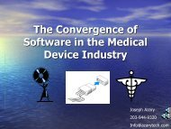 The Convergence of Software in the Medical Device ... - Boston SPIN