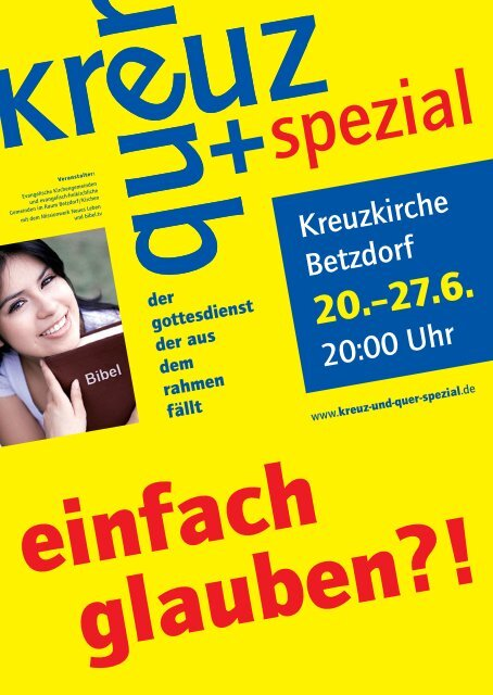 Flyer - Evangelische Kirchengemeinde Betzdorf
