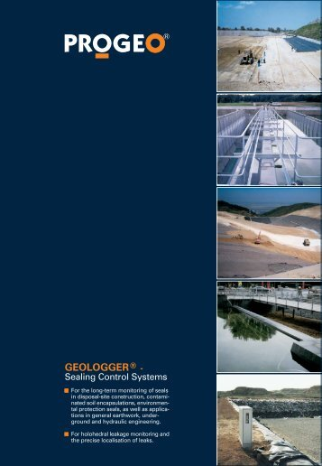 GEOLOGGER® - The sealing control system for buried ... - PROGEO