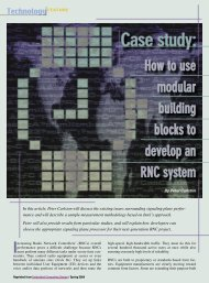 How to use modular building blocks to develop an RNC system