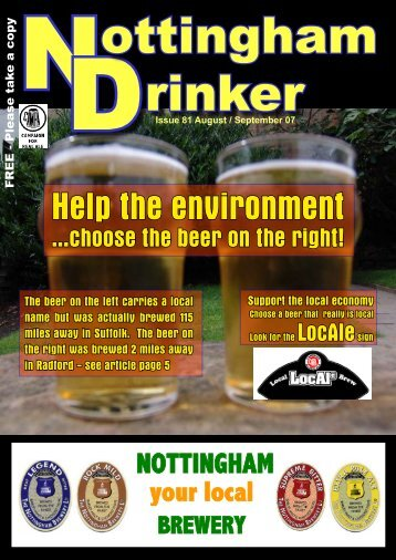 Help the environment - Nottingham CAMRA